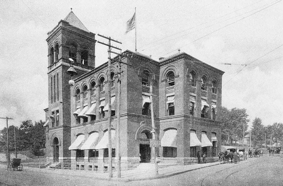 The Old Asheville Post Office Built In 1892 Sits On What Is Now Pritchard Park Haywood St Is On The Right Pat Vintage Asheville Smokey Mountains Asheville