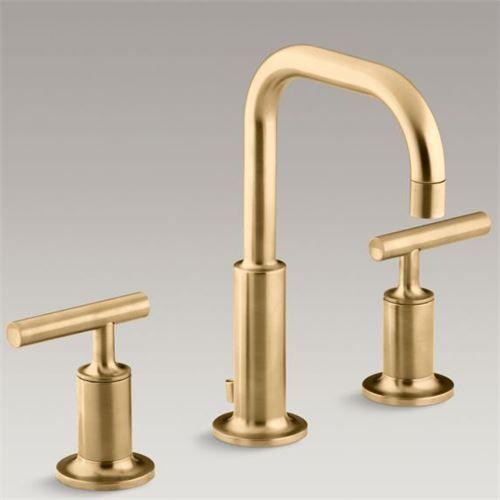 Kohler K 14406 4 Purist Widespread Faucet With Low Gooseneck Spout