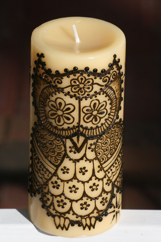 It's a henna...it's a candle...it's an owl. what more to love?! i wish my mom still had her henna kit.