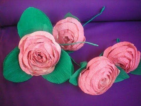 flor de papel crepom fcil fcil youtube como fazer flor de papel crepom fcil fcil youtube flower pensdiy flowerspaper mightylinksfo