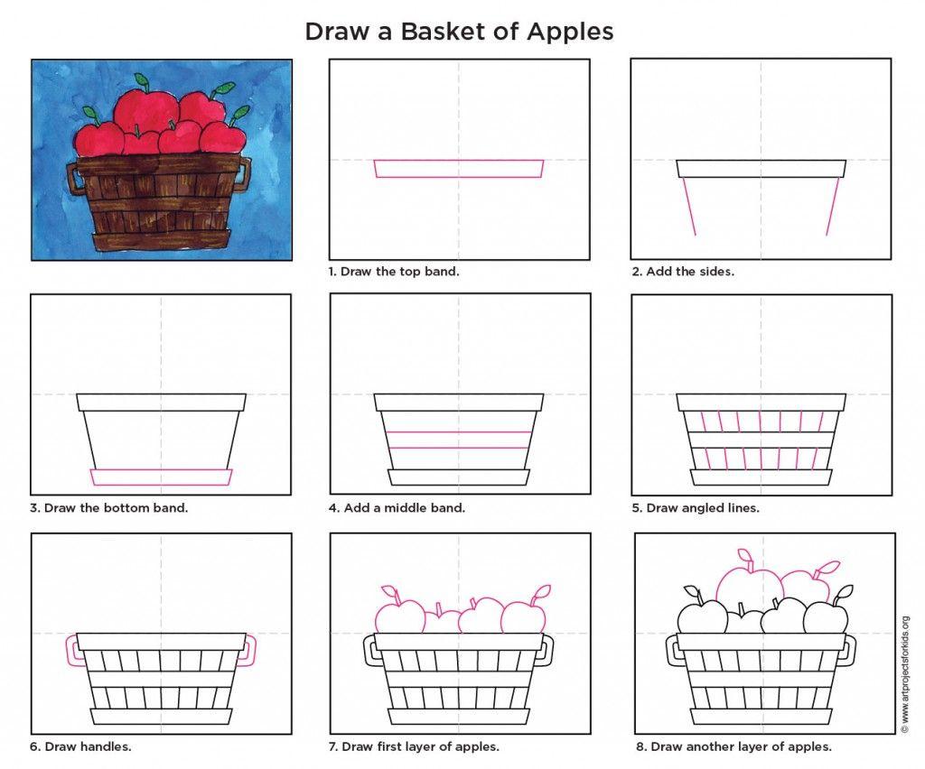 How Draw A Bushel Of Apples