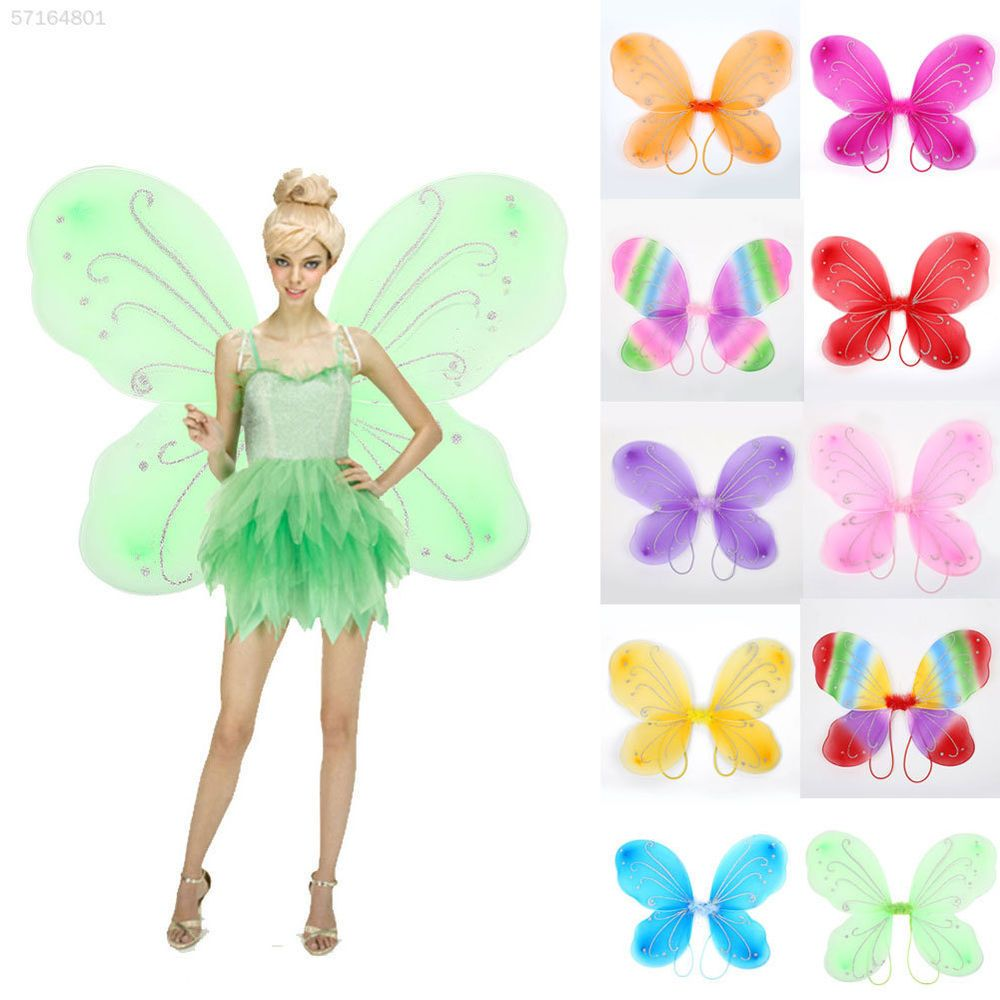 Adult Butterfly Wings Dress Up Christmas Halloween Photo Props