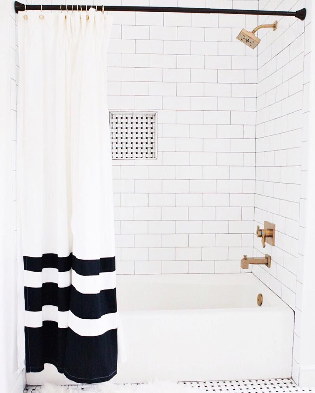 See This Instagram Photo By Ccandmikecreative 431 Likes Black Shower Curtains Apartment Decorating Black White Shower Curtain