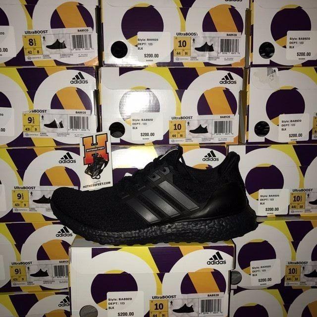 a95ff86a392 Adidas Ultra Boost Triple Black 3.0 BA8920 DS New Men Size  8-13 ...