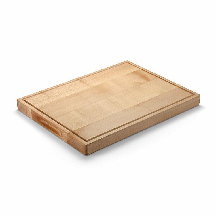 Holzschneidbrett Kautschuk Holz  Griffmulden