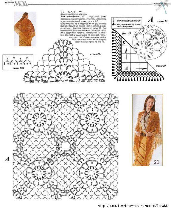 Delicadezas en crochet Gabriela: Mantones en crochet | Patrones ...