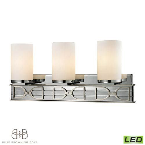 Photo of Elk Lighting Campolina Polished chrome and brushed nickel Three lights 11742/3 | Bellacor