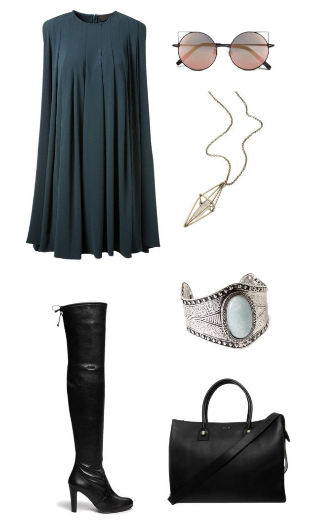 """Untitled #200"" by blackwalls ❤ liked on Polyvore featuring CO, Stuart Weitzman, Paul & Joe, Linda Farrow, Forever 21 and maurices"