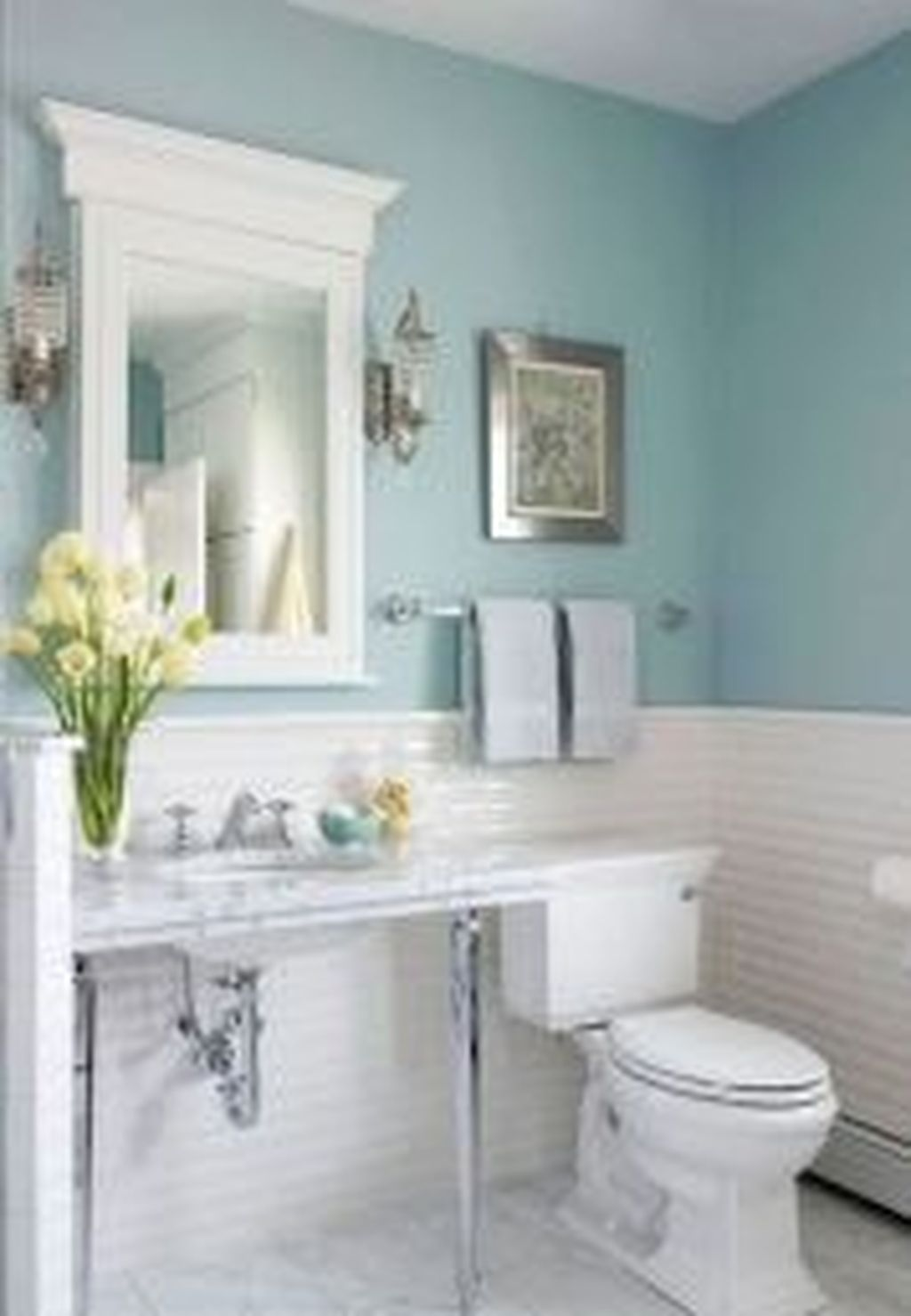 astounding light blue bathroom ideas | Amazing Blue Hued Bathroom Remodel Ideas 13 | Blue ...