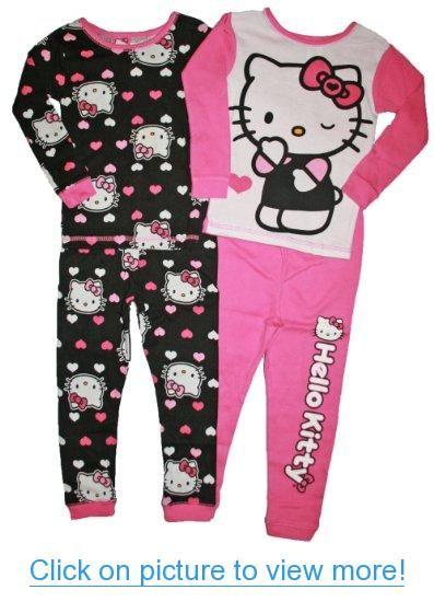 Hello Kitty Girls Size 4-8 Cotton Sleepwear Set #Hello #Kitty #Girls #Size #4_8 #Cotton #Sleepwear #Set