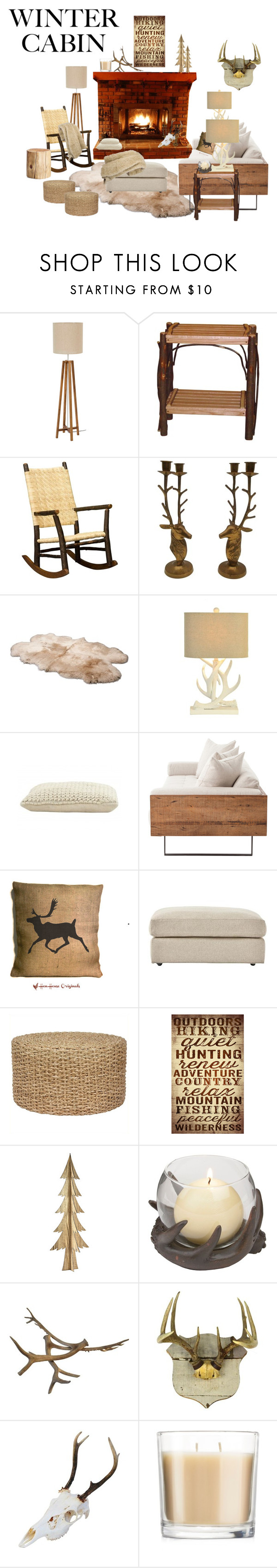 """Cozy Cabin Style"" by mhightower1011 ❤ liked on Polyvore featuring interior, interiors, interior design, home, home decor, interior decorating, DutchCrafters, UGG Australia, Jayson Home and Home Decorators Collection"