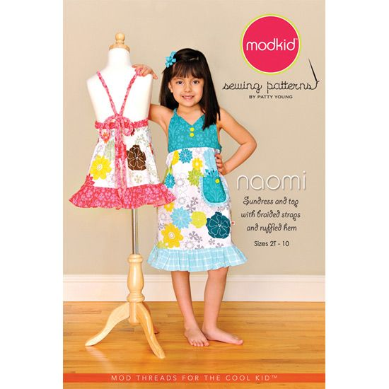 Mod Kid Boutique NAOMI Modkid Girls Dress Pattern Sundress and top ...