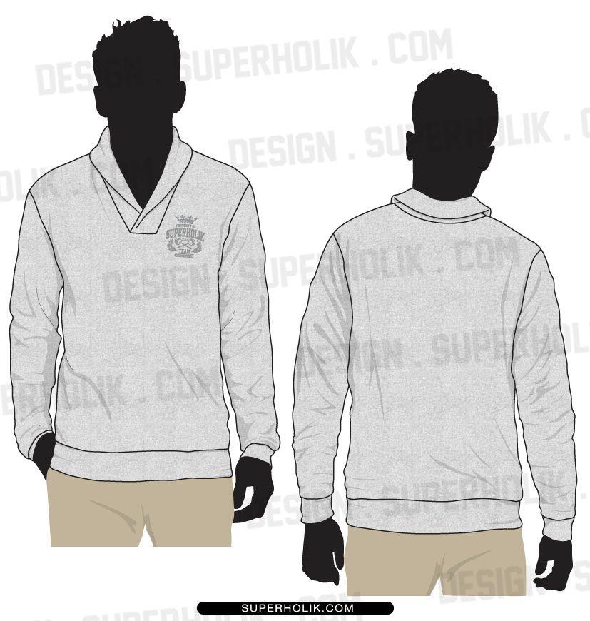 Shawl collar sweater template set by SUPERHOLIKdeviantart on
