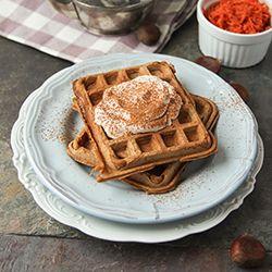 Grain free carrot waffles