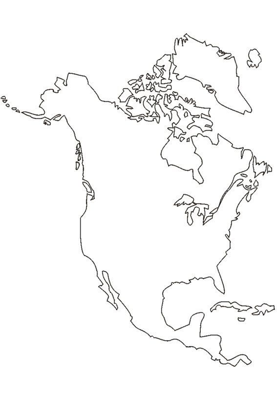 North America Coloring Page The Continent North America Flower Coloring Pages Printable Flower Coloring Pages Fall Coloring Pages