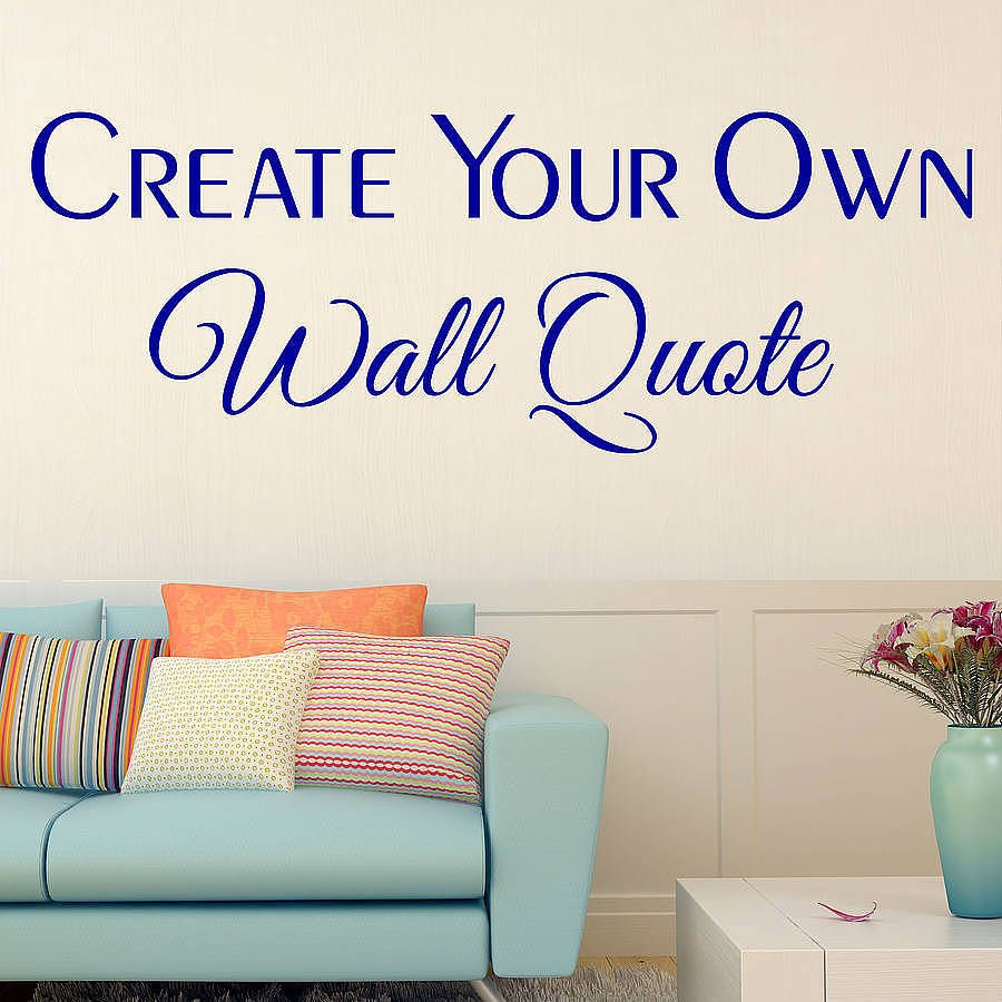 Custom Wall Stickers Pillow Pinterest Custom Wall Stickers