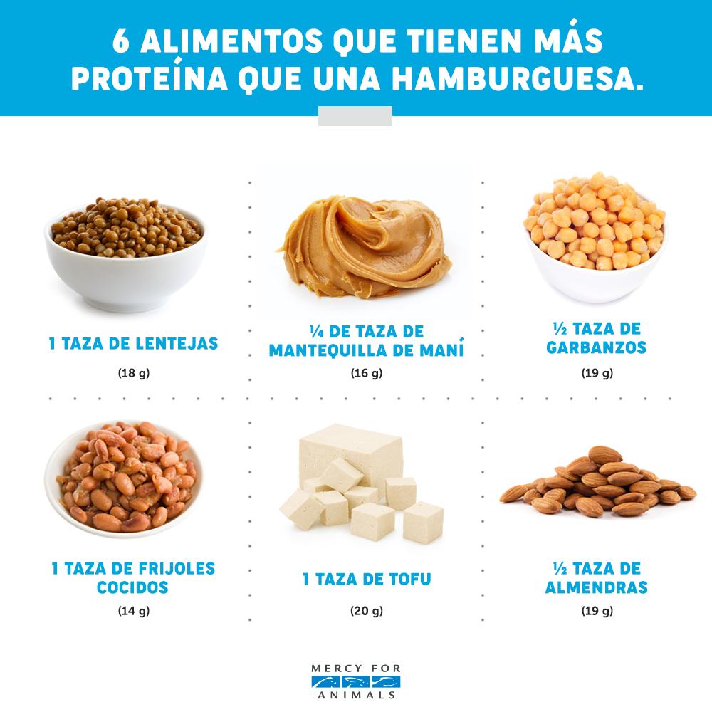 12 Alimentos Veganos Que Contienen Más Proteína Que Una Hamburguesa Alimentos Veganos Alimentos Saludables Alimentos