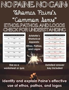 Thomas Paine Common Sense Worksheet - worksheet