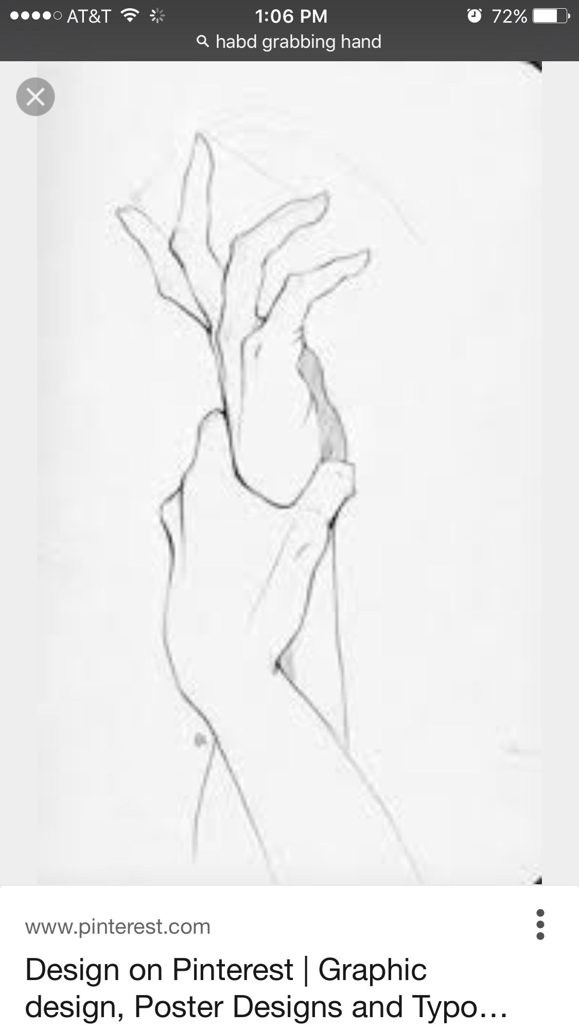 Hand references for drawing grabbing wrist