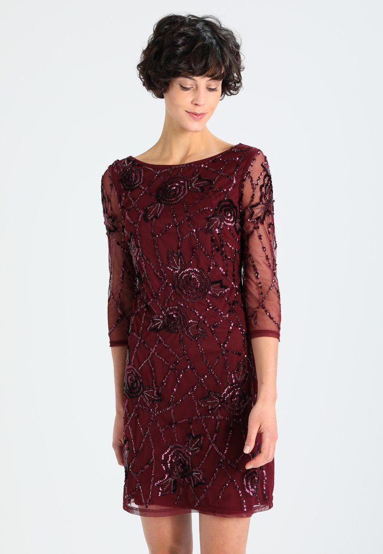 Anna Field Cocktailkleid Festliches Kleid Bordeaux Zalando De