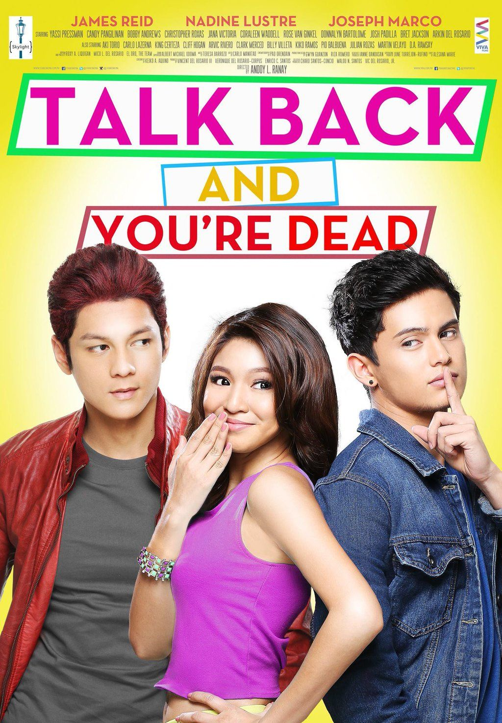 Talk Back And You Re Dead 2014 Starring James Reid Nadine Lustre Joseph Marco Pinoy Movies Talking Back You Re Dead