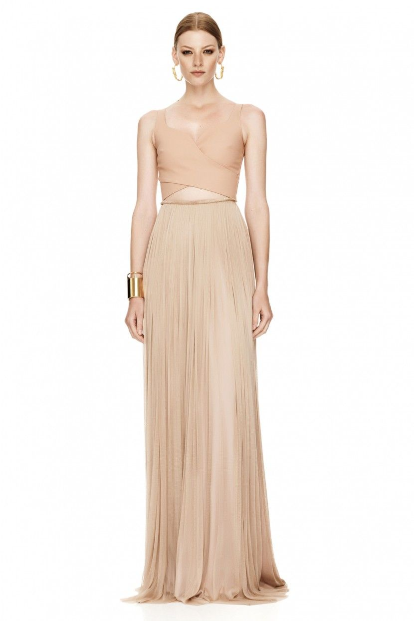 Nude silk gown long dresses pinterest casual products and silk