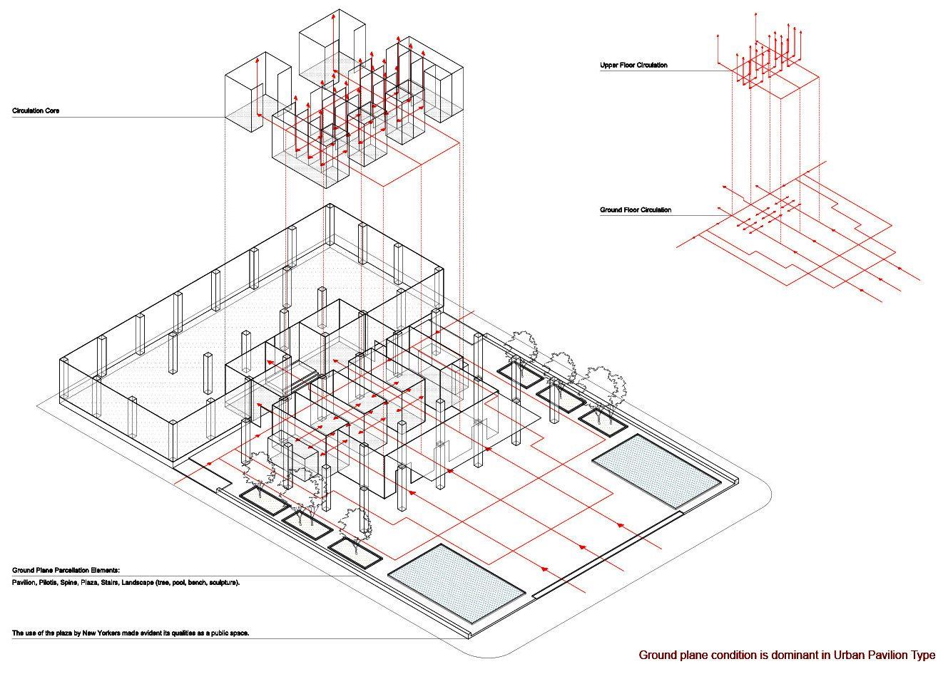 Seagram Building Plan Architectural Pavilion Pavilion