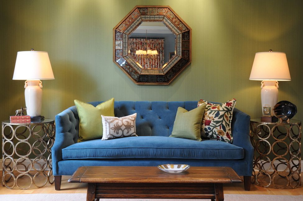 October 2013 Living Room Green Blue Living Room Trendy Living Rooms