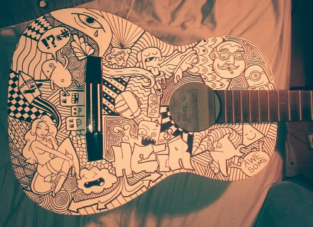 So I Decided To Draw On My Guitar With Images Guitar