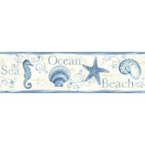 "Sand Dollar Island Bay Seashells 15' x 6.83"" Scenic 3D"