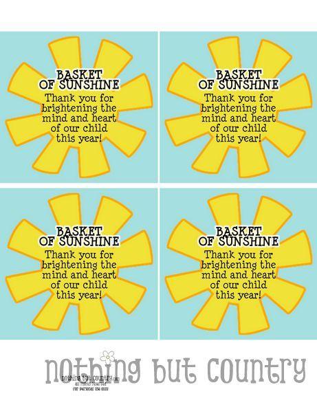 Modest image with basket of sunshine printable