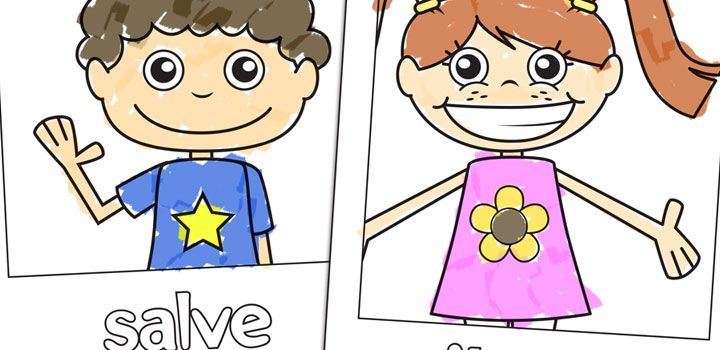 Coloring Sheets For Spanish Class : Zonae coloring education colors worksheets 1 spanish