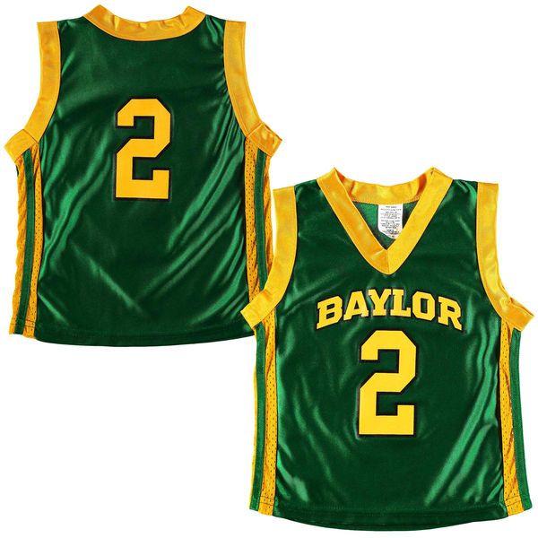 No. 2 Baylor Bears Toddler Basketball Jersey - Green - $27.99