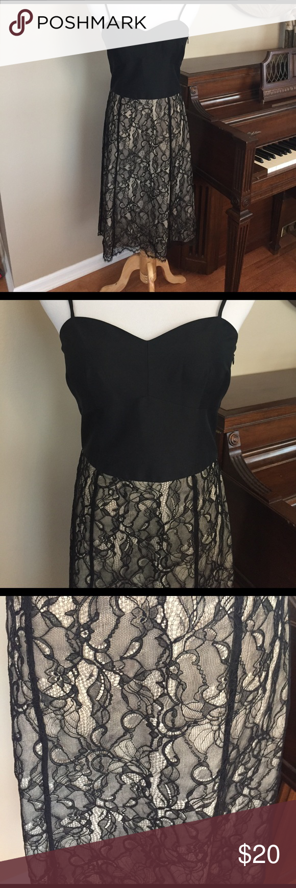 Ann Taylor Size 4 Beautiful Black Cocktail Dress | Black cocktail dress