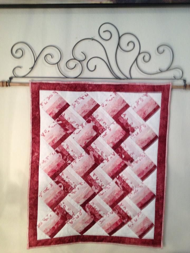 Pink Ribbon Mini Quilt I Made For Pink Realty In Colorado Springs 7
