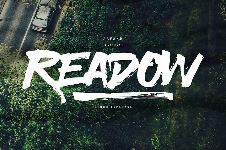 Download Readow Brush Font with Free Vector Pack | Brush font ...