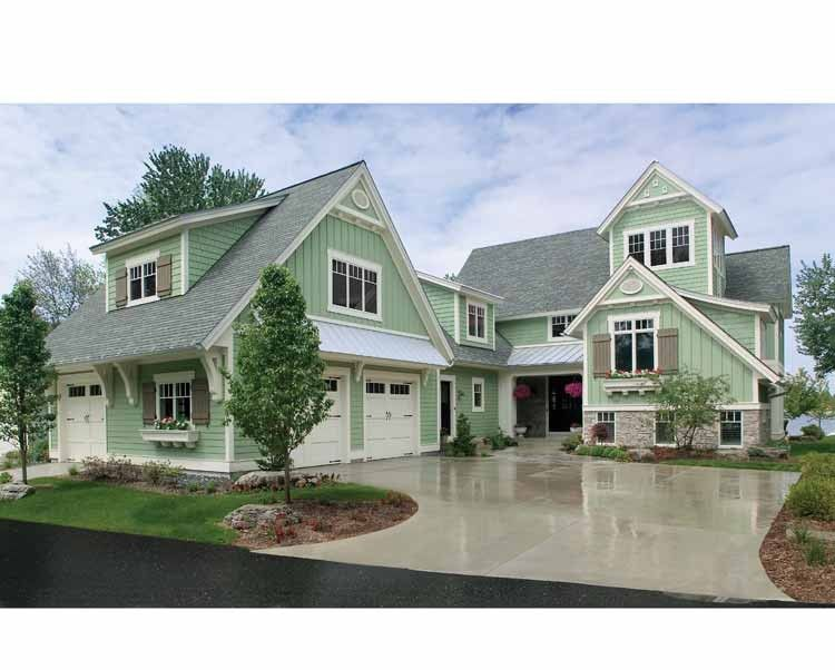 new american house plan with 4448 square feet and 5 bedroomss from dream - Traditional American Homes