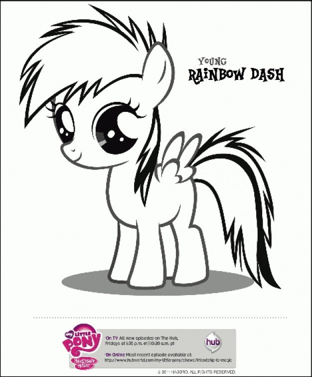 The Young Pony Rainbow Dash Coloring Page Free For Kids Letscolorit Com My Little Pony Coloring My Little Pony Baby Coloring Pages