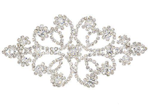 Sew-On Diamante Rhinestone Applique for Wedding and Brida