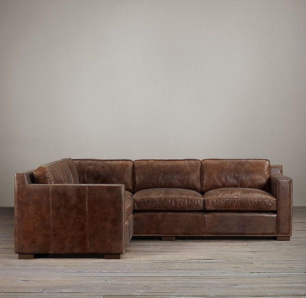 collins leather customizable sectional with nailheads furniture rh pinterest com