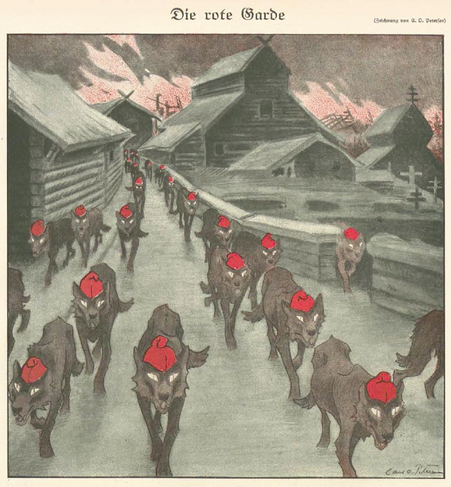 Carl Olof Petersen, Die rote Garde, 1918