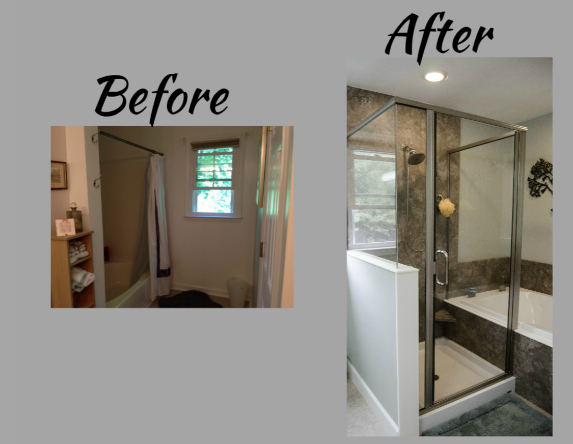 Shower Replacement - Shower Re-Do - Oversized ShowerHead - Glass ...