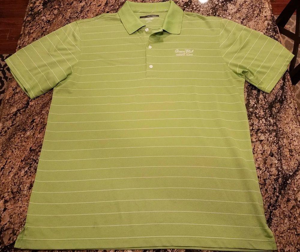 Greg Norman Ocean Club Paradise Island Green Polo Shirt Sz Xl