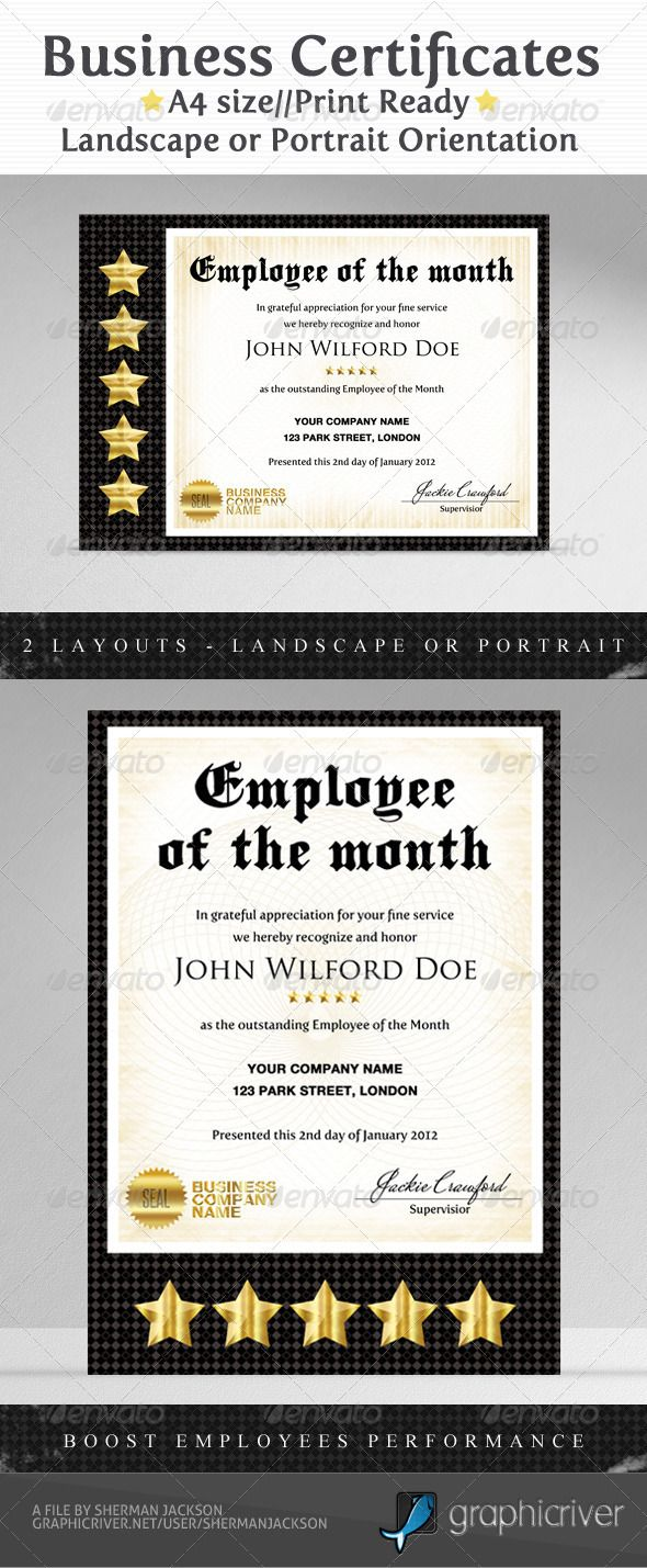 Business & Company Certificate Template PSD. Download here: http ...