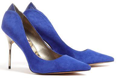 8b2a947d9 Sam Edelman Danielle Blue Suede Court Shoes