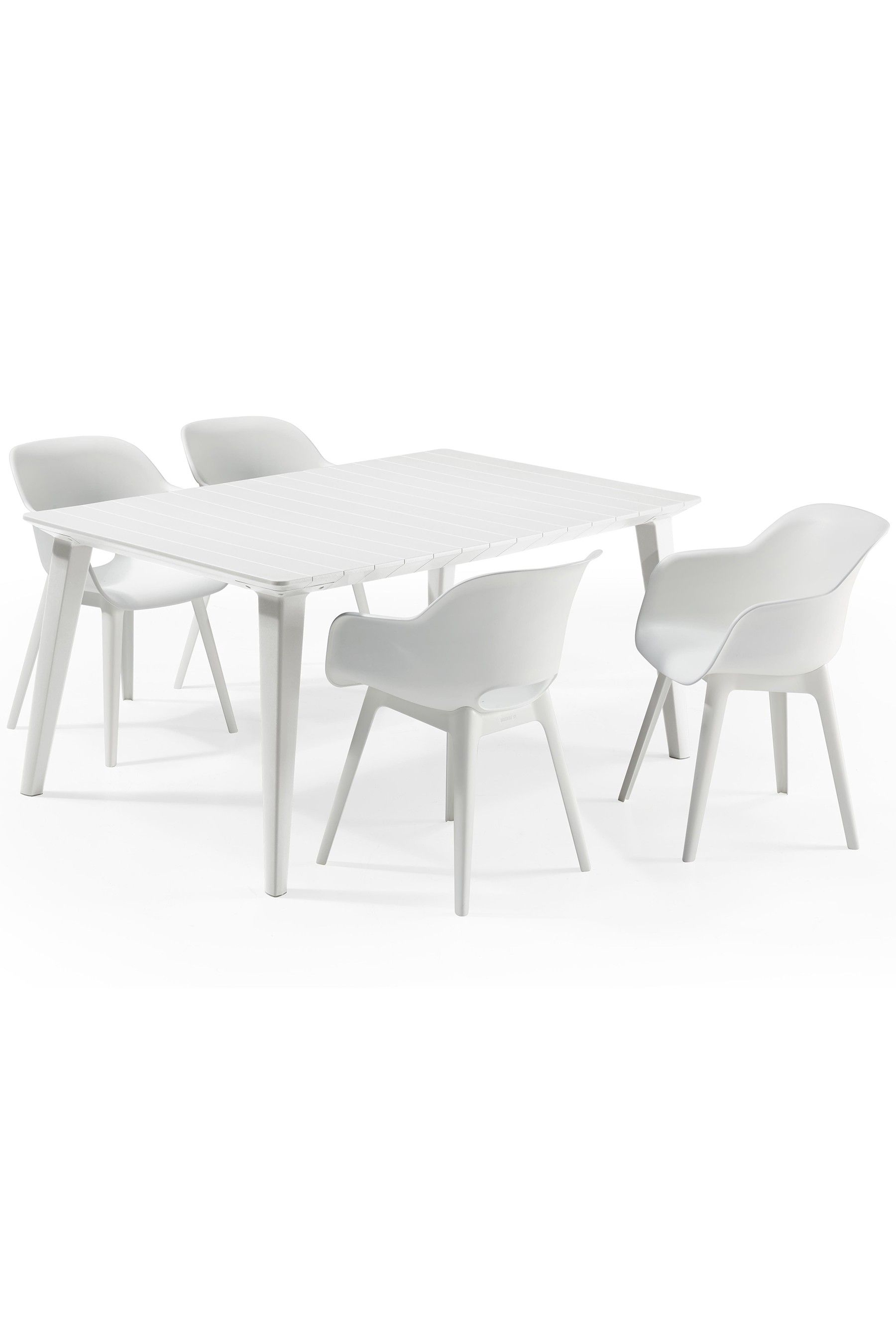 Table Basse Allibert Next Dining Table And Chair Set By Allibert White In 2019