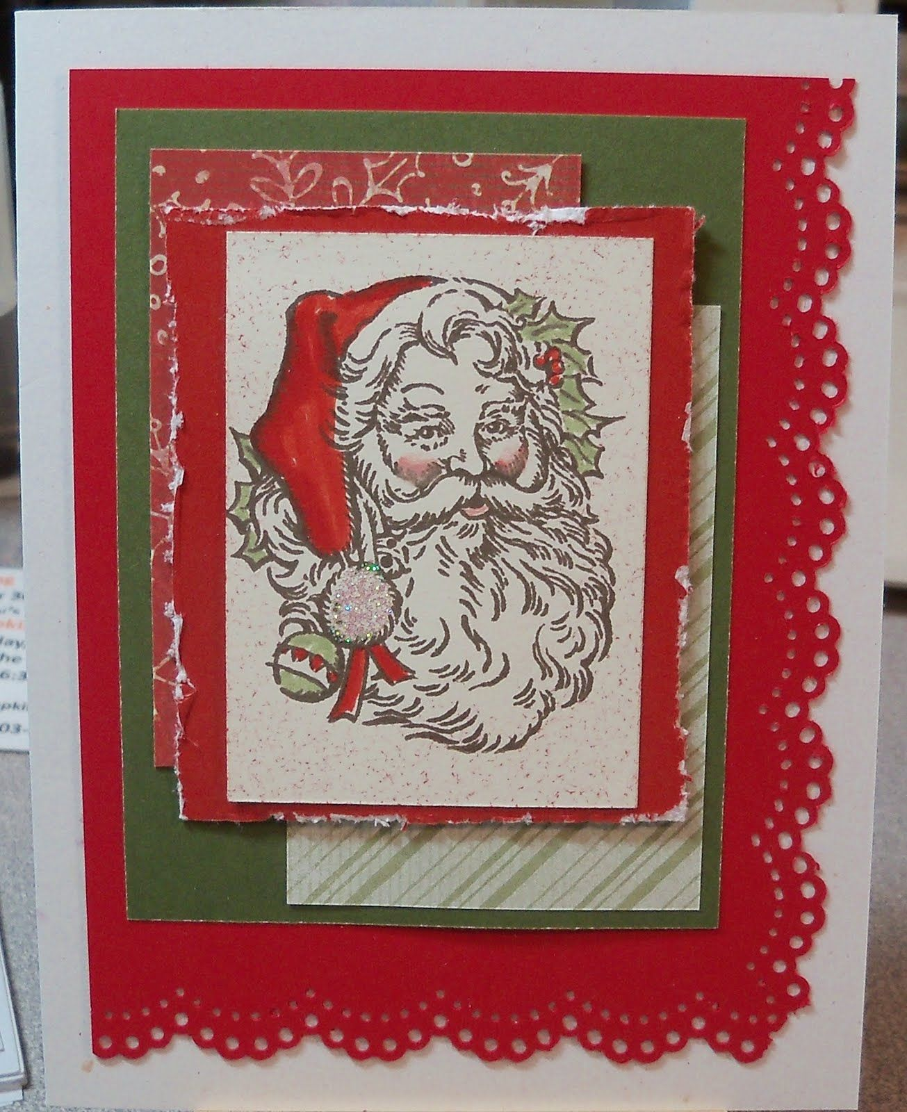 Scrapbook ideas christmas card - Scrapbooking Christmas Card Ideas Here Are Three More Trial Cards The Santa Card Started Out