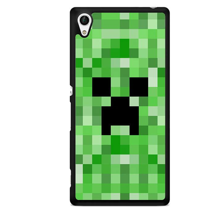 Minecraft Creeper TATUM-7266 Sony Phonecase Cover For Xperia Z1