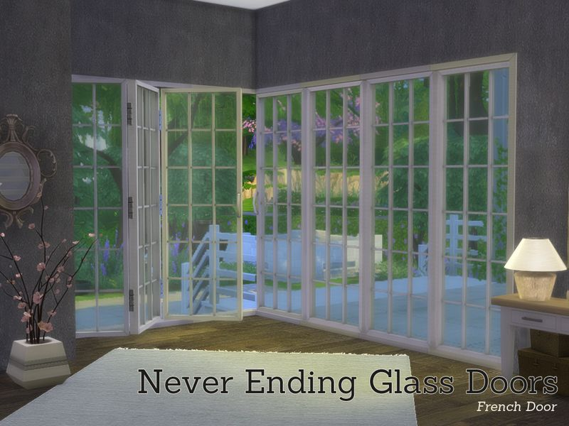 Never Ending Glass Door Buildset Comes In 9 Parts Found In Tsr Category 39 Sims 4 Construction Sets 39 Sims 4 Windows Sims 4 Sims