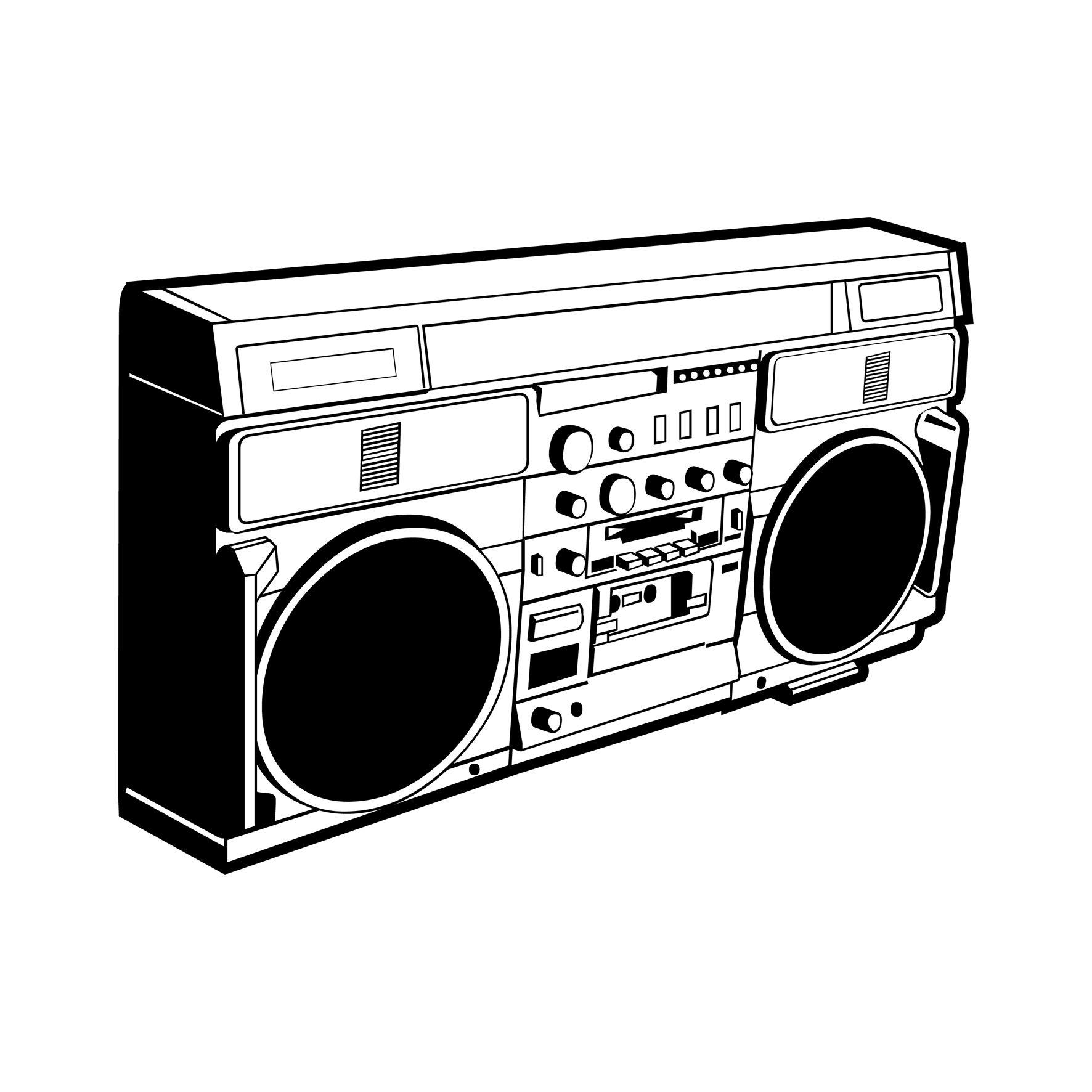 Vector GB | Ghetto Blaster a.k.a. Boom Box | Pinterest